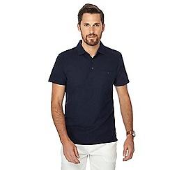 Hammond & Co. by Patrick Grant - Navy honeycomb textured polo shirt