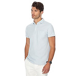 Hammond & Co. by Patrick Grant - Big and tall pale blue honeycomb textured polo shirt