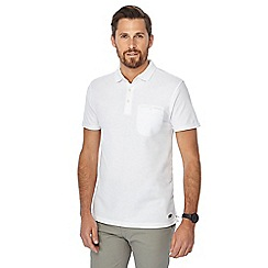 Hammond & Co. by Patrick Grant - Big and tall white honeycomb textured polo shirt