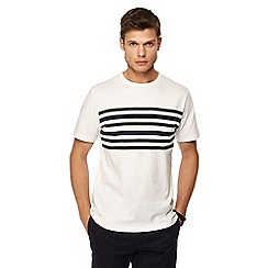 Hammond & Co. by Patrick Grant - White Fulham chest stripe print t-shirt