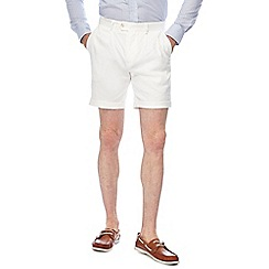 Hammond & Co. by Patrick Grant - White linen blend shorts