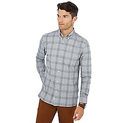 Hammond & Co. by Patrick Grant - Grey Prince of Wales checked long sleeve regular fit shirt