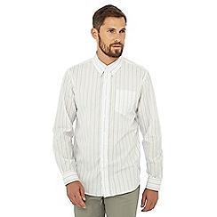 Hammond & Co. by Patrick Grant - Big and tall grey stripe print long sleeve shirt