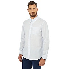 Hammond & Co. by Patrick Grant - White stripe print long sleeve shirt