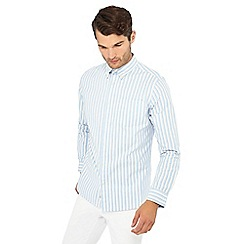 Hammond & Co. by Patrick Grant - Light blue stripe print long sleeve regular fit Oxford shirt
