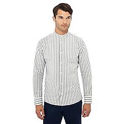 Hammond & Co. by Patrick Grant - Grey striped long sleeve regular fit Oxford shirt