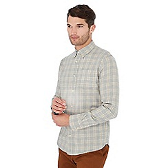 Hammond & Co. by Patrick Grant - Grey checked long sleeve regular fit shirt