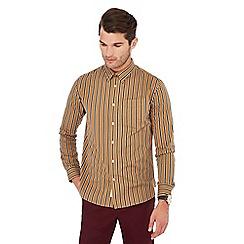Hammond & Co. by Patrick Grant - Tan striped print long sleeve shirt