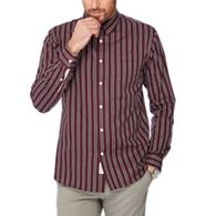 ec5bf7865954 Hammond   Co. by Patrick Grant - Wine red stripe print cotton long sleeve  shirt