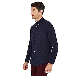 Hammond & Co. by Patrick Grant - Navy checked long sleeve regular fit shirt