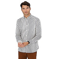 Hammond & Co. by Patrick Grant - White double striped long sleeve regular fit shirt