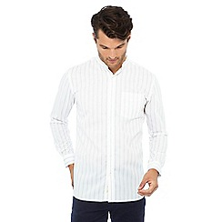 Hammond & Co. by Patrick Grant - Big and tall white striped long sleeve regular fit shirt