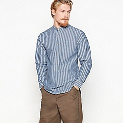 Daniel Rynne - Blue striped cotton long-sleeved shirt
