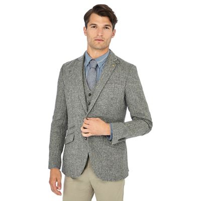 Hammond   Co. by Patrick Grant - Light grey  Moon  herringbone wool blazer 0a4d92a4a3fa