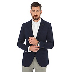 Hammond & Co. by Patrick Grant - Big and tall navy basketweave blazer