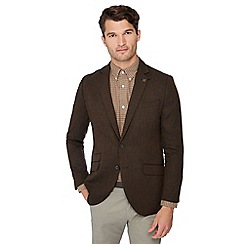 Hammond & Co. by Patrick Grant - Brown basket weave blazer with wool