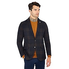 Hammond & Co. by Patrick Grant - Big and tall navy checked 'patrick' wool blend blazer