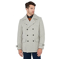 Hammond & Co. by Patrick Grant - Big and tall pale grey wool rich peacoat