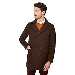 Hammond & Co. by Patrick Grant - Big and tall brown wool rich coat