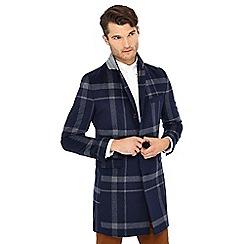 Hammond & Co. by Patrick Grant - Big and tall navy check print epsom coat