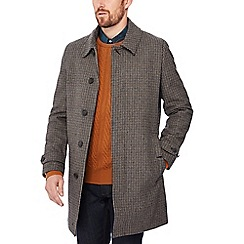 Hammond & Co. by Patrick Grant - Big and tall brown houndstooth wool rich coat