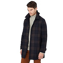 Hammond & Co. by Patrick Grant - Big and tall navy checked coat with wool