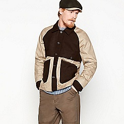 Daniel Rynne - Tan cotton and wool blend mantle jacket