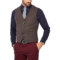 Hammond & Co. by Patrick Grant - Brown houndstooth wool 'Penteadora' waistcoat