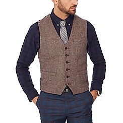 Hammond & Co. by Patrick Grant - Big and tall wine red 'Crofters' waistcoat