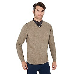 Hammond & Co. by Patrick Grant - Taupe honeycomb wool rich jumper