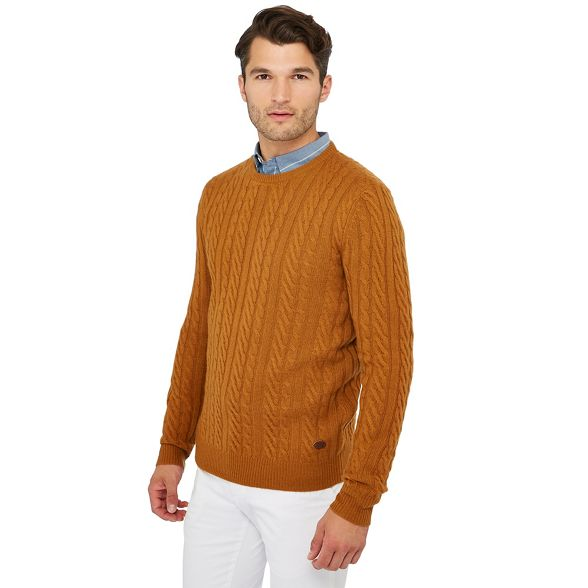 wool amp; rich Grant Hammond Co knit Dark Patrick yellow jumper cable by 7wvzvqd