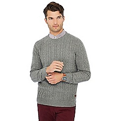 Hammond & Co. by Patrick Grant - Grey cable knit wool rich jumper