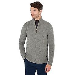 Hammond & Co. by Patrick Grant - Grey diamond knit wool rich jumper