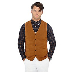 Hammond & Co. by Patrick Grant - Mustard V-neck lambswool rich waistcoat