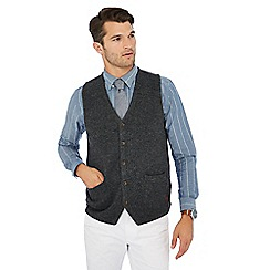 Hammond & Co. by Patrick Grant - Big and tall grey v-neck lambswool rich waistcoat