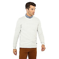 Hammond & Co. by Patrick Grant - Ivory diamond knit jumper with wool