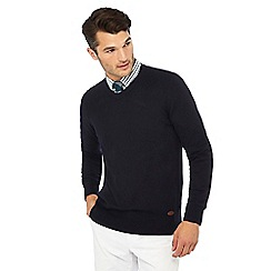 Hammond & Co. by Patrick Grant - Navy argyle jumper with wool
