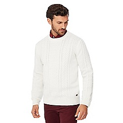 Hammond & Co. by Patrick Grant - Big and tall ivory cable knit wool rich jumper