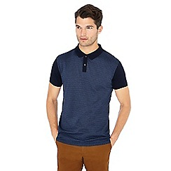 Hammond & Co. by Patrick Grant - Navy dogtooth print polo shirt