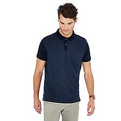 Hammond & Co. by Patrick Grant - Navy stripe front polo shirt