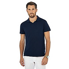 Hammond & Co. by Patrick Grant - Navy textured polo shirt