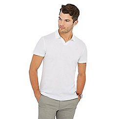 Hammond & Co. by Patrick Grant - Big and tall white textured polo shirt