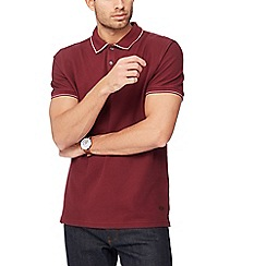 Hammond & Co. by Patrick Grant - Dark red honeycomb textured polo shirt