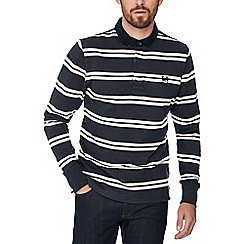 Hammond & Co. by Patrick Grant - Off-white and dark grey twin stripe twill rugby top