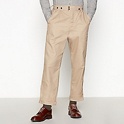 Daniel Rynne - Tan cotton pleat work trouser tapered fit trousers