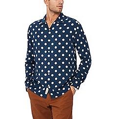 Hammond & Co. by Patrick Grant - Navy Floral Print Long Sleeve Regular Fit Shirt
