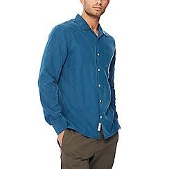 Hammond & Co. by Patrick Grant - Dark turquoise revere collar long sleeve regular fit shirt