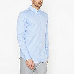 Hammond & Co. by Patrick Grant - Light Blue Twill Long Sleeve Regular Fit Shirt