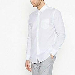 Hammond & Co. by Patrick Grant - White Long Sleeve Regular Fit Oxford Shirt
