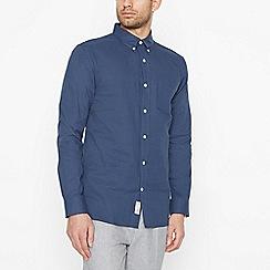 Hammond & Co. by Patrick Grant - Navy Textured Long Sleeve Regular Fit Shirt